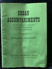 Organ Accompaniments English Hymnal Sheet Music Book Intermediate 40 PP Antique