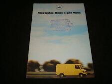 merceses-benz luz Vans FOLLETO VENTAS GB marcha 1981