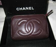 100% Authentic Chanel pouch/coin wallet burgundy caviar leather