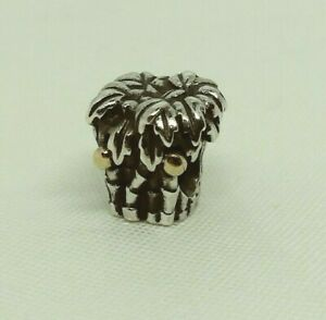 Authentic PANDORA Sterling Silver Charm PALM TREE 14k COCONUTS #790521