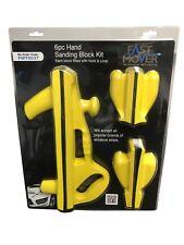 FMT5537 Fast Mover 6 Piece Hook & Loop Flat Sanding Block Kit SMART Repair