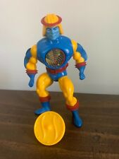 MOTU HE-MAN ?CYCLONE? action figure complete w shield  works paint is perfect