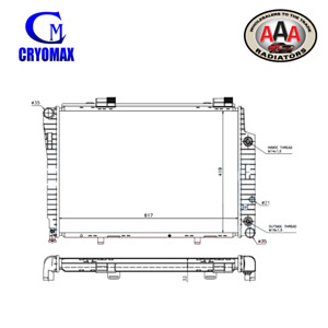 AAA (CRYOMAX) RADIATOR Fits MERCEDES BENZ C-CLASS W202/SLK R170 94-01