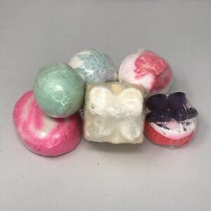 LUSH Bath Bomb & Bubble Bar Bundle X6 Golden Wonder, Snow Fairy, etc