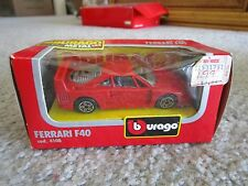B BURAGO 1/43 FERRARI F40 RED 4108 NEW IN BOX