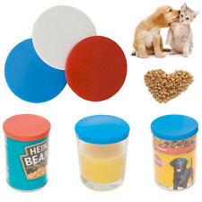 3 x Flexible Can Food Storage Lids Covers Caps Kitchen Tin Pet Reusable Plastic