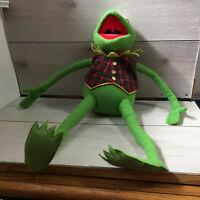 "A107 Vintage Eden Muppets Kermit Frog Plush! 22"" Stuffed Toy Lovey Clothes"