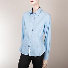 NAPAPIJRI Damen Bluse L 40 Blau Weiß Gestreift Oberteil Top Hemd Boyfriend Style