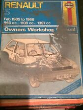 Haynes Manual 1219 .Renault 5 .Feb 1985 to 1986 . 956 cc, 1108 cc, 1397 cc .