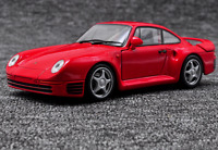 Welly 1:24 Porsche 959 Red Diecast Model Sports Racing Car New in Box