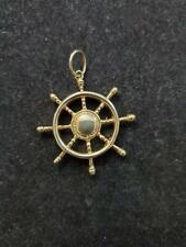 SOLID HEAVY SHIP WHEEL IN 14 K YELLOW GOLD WEIGHTS 10.6 GRAMS
