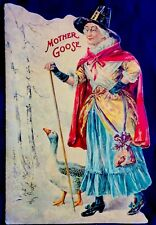 MOTHER GOOSE NURSERY RHYMES Antique Replica Children's Die Cut Picture Book