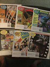 6 Issues Comics Buyer's Guide, 1996-2000, X-Men, Wolverine,Hawkman Avengers Cvs.