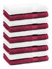 Betz Set di 10 lavette Premium misura 30 x 30 cm 100% cotone colore rosso scuro