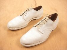 Wwii 1940s vtg Usmc Dress White Leather Shoes 10 Oxford Officer