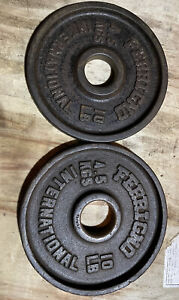 Vintage Ferrigno 10lbs Pair Vintage 2 Inch Olympic Weights