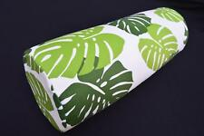 LF814g White Light Green Blue Cotton Canvas Neck Yoga Bolster Case Pillow Cover
