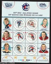 Year 2000 Canada stamps, 1st series NHL pane Gretzky Orr #1838 ** MNH GEM