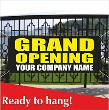 Grand Opening Your Company Name Banner Vinyl / Mesh Banner Sign Custom Name Shop