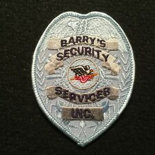 Barry's Security Services Patch / Safety Private Guard