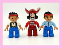 Duplo Lego Jake & the Neverland Pirates w/ Captain Hook Figures Lot Of 3