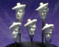 Resicast 1/35 Heads with Tam o'Shanter (ToS) Scottish Bonnets (5 heads) 355660