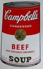 ANDY WARHOL CAMPBELLS' BEEF Soup Can SUNDAY B.MORNING Silkscreen Print COA