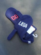 Team USA Adult Mittens Gloves One Size Navy Blue Go USA Winter Olympic New
