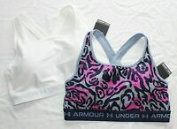 2 New UNDER ARMOUR Padded Crossback 2.0 Womens Athletic Sports Bra Lot XLARGE XL
