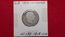 GREAT BRITAIN - 1818 ONE SHILLING - PREDECIMAL COIN. Silver 92.5%.