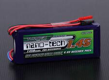 Turnigy Nano-Tech 1450mAh 2S 20C 40C Battery LiFePo4 Receiver RX JST 6.6v Futaba