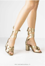 Ladies Nola Gold Topshop Heeled Shoes 38/ 5