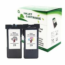 2PK Black&Color #28 #29 Ink Cartridge Set For Lexmark Z1310 X2500 X5495 Printer