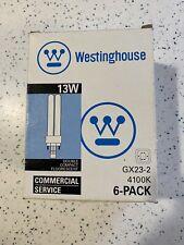 (6-Pack) Westinghouse F13Dtt/41K Fluorescent 13W Lamp Bulb 2-Pin Gx23-2 4100K