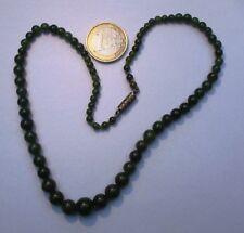B14 Joli collier ancien en Jade Jadeite bijou lot ethnique asiatique