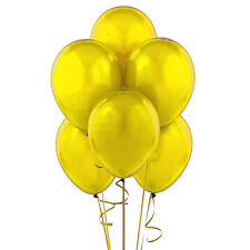 "144 Latex Balloons 12"" with Clips and Curling Ribbon - Yellow"
