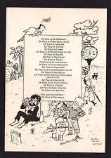 "Kuifje - Postkaart  ""Gal naar Hergé"" - Uitgave ""De gele limonade"""