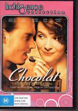 CHOCOLAT - DVD - JOHNNY DEPP  JULIETTE BINOCHE - LIKE NEW - FREE POST