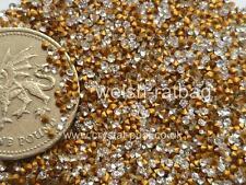 60 X Preciosa 388 / 7pp Cristal diamanté gold-foiled chatons