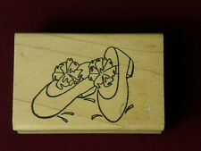 Pair Fancy Shoes Bow Red Ladies Club Society Girls Fun Double D1997 Rubber Stamp