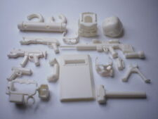 (White) custom swat Tactical military weapons   police  14 parts for lego