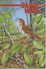 Pennsylvania Game News August 2008 cover by Chuck Ripper wood thrush