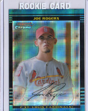 2002 BOWMAN CHROME BASEBALL JOE ROGERS XFRACTOR CARD