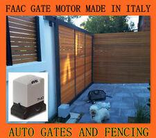 FAAC-Italian Brand Sliding Gate Motor Opener- remotes, 4 gear racks and CP free.