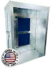 4 X 5 X 7 Powder Coating Spray Booth Paint Booth Semi Downward Draft Led