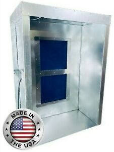 4' x 5' x 7' Powder Coating Spray Booth, Paint Booth, Semi-Downward Draft, LED