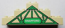 Lego Duplo Thomas Knapford Station Arch 3 Pieces Beige/Green Printed Brick Lot