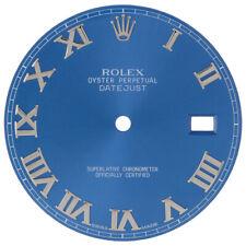 Original Factory Rolex 116334 Blue Roman Numeral Dial Datejust II 41mm Watch