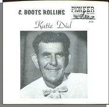 """C. Boots Rollins & Pioneer Band - Katie Did - 7"""" 45 RPM Square Dance Record!"""