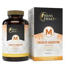 Multi Enzym Komplex - 120 Kapseln (vegan) - 7 Enzyme + Betain -  Hochdosiert